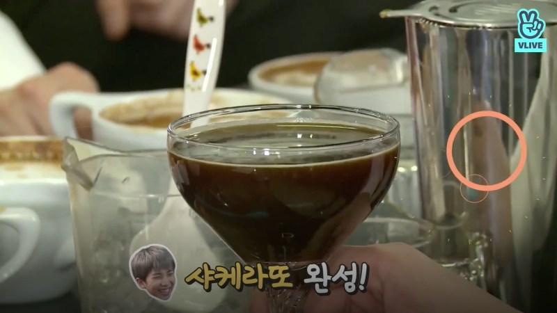 สูตรกาแฟ เชคเกอราโต้ (Shakerato) ของ RM BTS