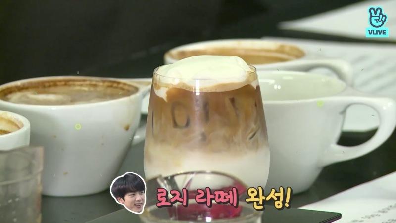 กาแฟโรซี่ลาเต้ (Rose Latte) ของจิน BTS