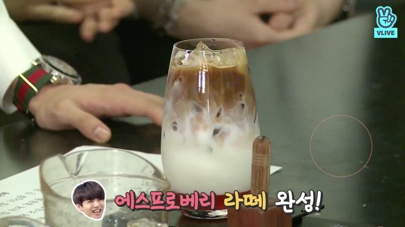 กาแฟเอสโพรเบอร์รี่ลาเต้ (Esproberry Latte) ของ Jungkook BTS