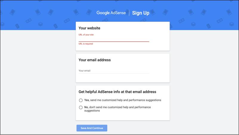 วิธีสมัครใช้งาน Google Adsense
